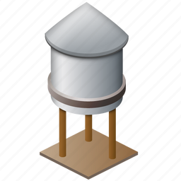 business, drop, ship, storage, tank, tower, water, water tower, water-tower, watertower icon