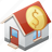 bank, banking, banks, building, goldsmith, home, house, immovable, picket, property, realty, treasure, treasury icon
