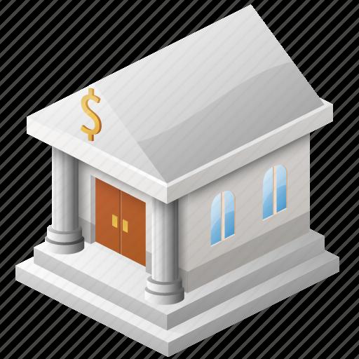 bank, bank building, bank service, business, cash, money, rich, safe, simple, treasure icon