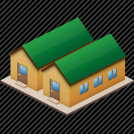barracks, building, buildings, city, construction, encampment, home, house, office, quarters, temporary icon