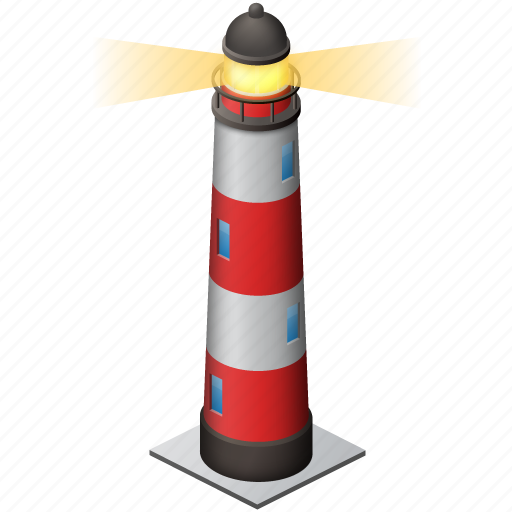 fire, light house, lighthouse, sea, shipping, simple, torch, tower icon
