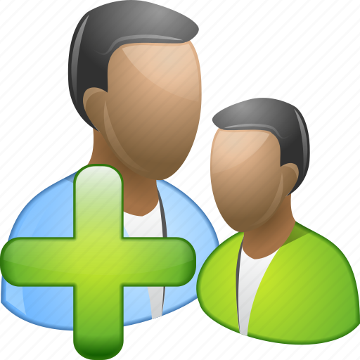 add users, create group, customers, friends, people, plus, profiles icon