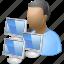 administrator, computer admin, developer, manager, moderator, network, programmer icon