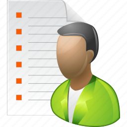 agreement, client list, customer, person, report, user database, users icon