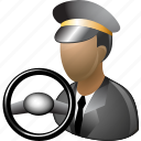 car driver, chauffeur, drive, male, rule, ruler, taxi driver icon