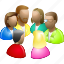 conference, congress, consultation, customers, forum, large group, party icon