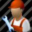 business man, job, mechanic, service, serviceman, work, worker icon
