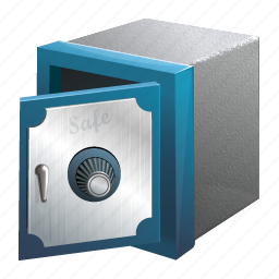 bank, lock, money, safe, secure, security, storage, store, vault icon