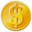 business, buy, cash, coin, dollar, dollar coin, dollars, gold dollar, invest, investment, money, price, rich, sell, shopping icon