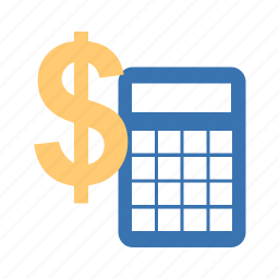 accounting, calculator, cash, computing, currency, dollars, dough, estimates, office, taxes icon