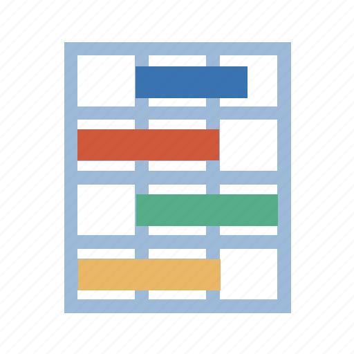 array, circuit, counter, gantt, map, pattern, plot, schema, scheme, sheet, sked, spreadsheet, statistics, syllabus, timing icon