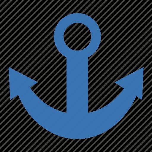 anchor, anker, armature, basic, dagliks, drop, gestureworks, grapnel, grapple, grappling-iron, kedge, mooring line, ride, verpanker, weigh icon