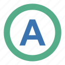 attribute, document, script, sign, course, anarchy, discipline, exponent, character, mark, badge, method, monogram, emblem, cypher, letter, a, anarchism, type, token, cipher, order icon