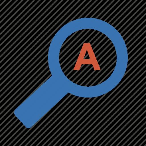 auto, examination, examine, explore, find, investigate, investigation, quest, research, rummage, scan, search, study, survey, zoom icon