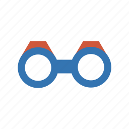 binoculars, bull's-eye, eyeglasses, find, glass, glasses, lens, look-see, loupe, magnifier, magnifying glass, reading-glass, search, specs, spectacle, spectacles, zoom icon