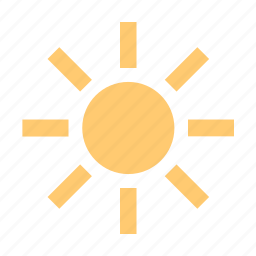 blacken, brightness, brown, burn, day-star, heat, light, luminary, phoebus, sol, star, sun, sunbathe, sunny, tan, warmth, weather icon