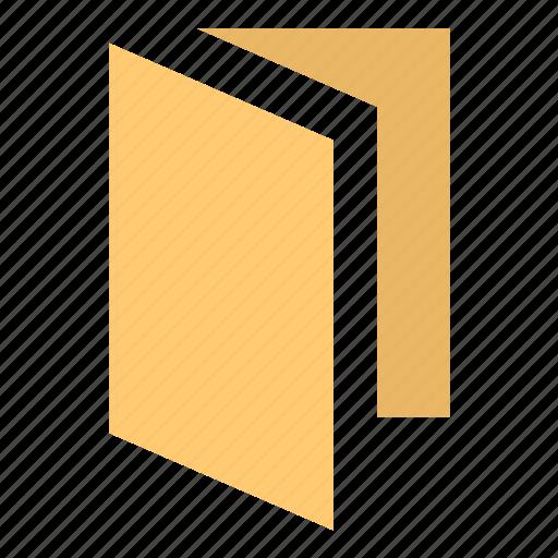 bumf, bumph, card, case, document case, file, folder, history, jacket, portfolio, self-binder icon