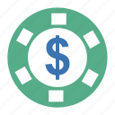 ante, bet, bitcoin, casino, check, chip, coinsphere, counter, disorderly house, gaming house, general headquarters, hell, money, play, poker, policy-shop, rate, schtick, shtick, stake, wager icon