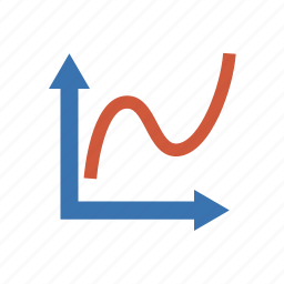 analytics, chart, diagram, function, graph, plot, statistics icon