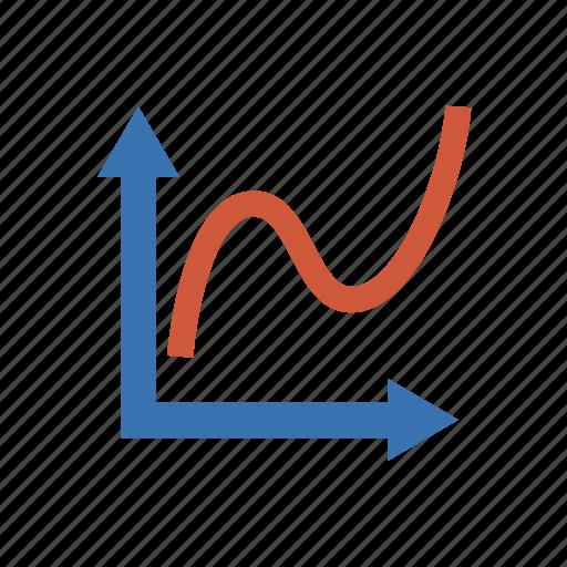analytics, chart, diagram, function, graph, plot, statistics icon