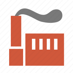 dust, facility, factory, fume, impression, industrial, industry, mill, plant, reek, smoke, steam, waste, works icon