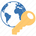 access, web, internet, earth, security, network, world, chilld protection, web access, firewall, fire-wall, filter, fire wall, locked, key, lockd, lock, globe, secure icon