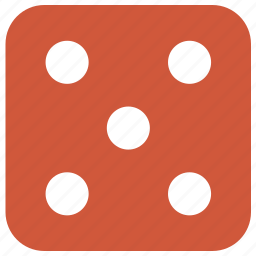 block, casino, dice, disorderly house, emoticon, game, game over, games, gaming house, hell, luck, lucky, play, policy-shop, smiley, success, target, up, windfall icon