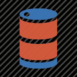 barrel, barrel roll, benzine, butt, cask, cistern, combustible, firewood, firing, fuel, fuelling, gas, gasoil, gasoline, juice, media, metal, metal barrel, oil, oil car, petrol, plastique, roll, social, tank, tank car, tanker, toxic, vat icon