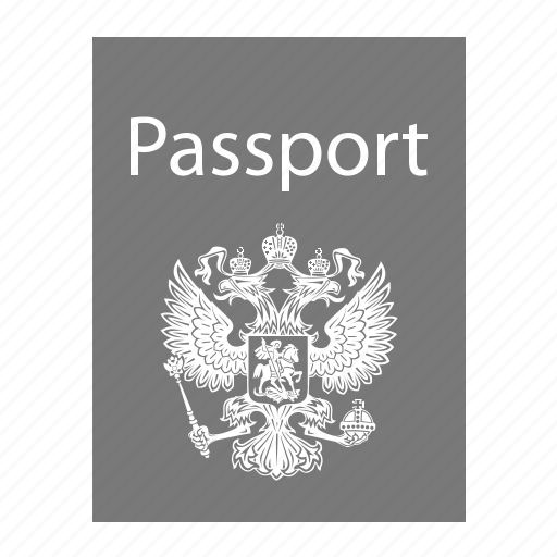 attestation, certificate, certification, deed, document, eagle, evidence, instrument, paper, pass, passport, protection, record, russian passport, testimony, vacation, visa, witness, writing icon