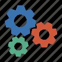 cogwheel, conf, configurate, configure, control, gear, gears, gearwheel, go, mech, mechanic, mechanics, pinion, play, preferences, rackwheel, rotate, screw-wheel, settings, stop, system, tools icon