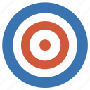 circles, donuts, ads, darts, dart, aim, goal, bullseye, target, objective, purpose, object icon