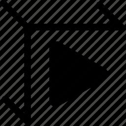 3d, arrow, begin, copy, forward, go, new, next, play, power, print, printer, printing, prints, process, progress, replicator, reprap, run, start icon