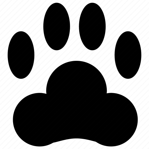 animal, dog, fingerprint, foot, footprint, paw, print, stamp, trace, traces, tracing, track icon