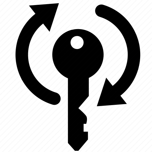 key, password, private, protection, refresh, reload, security icon