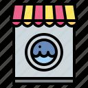laundry, machine, shop, washing icon