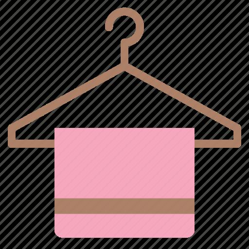 hanger, laundry, towel, washing icon