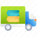 delivery, laundry, package, shipping icon
