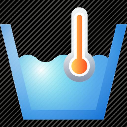 hot, laundry, temperature, washing icon