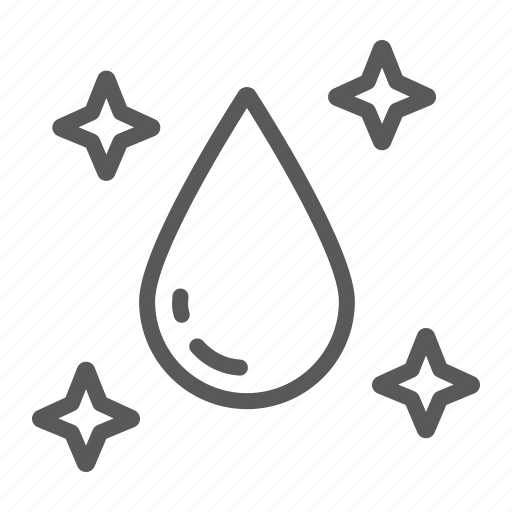 clear, drop, laundry, purity, raindrop, water icon