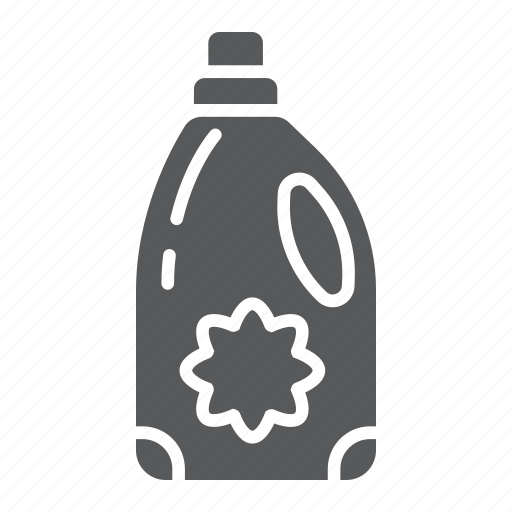bottle, container, fabric, laundry, softener icon