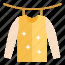dress, shirt, shirt drying, sunlight drying, t-shirt, wear