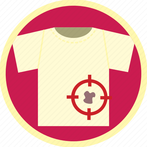 aim, dirt, pinpoint, shirt, spot, stains, wash icon