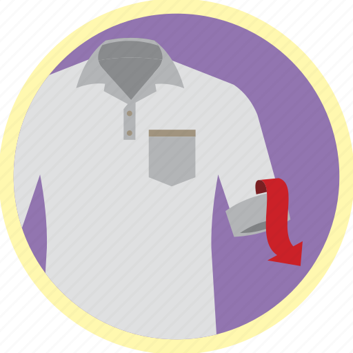 laundry, shirt, sleeves, stain, unroll, wash icon