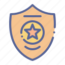 badge, police, sheriff, star icon