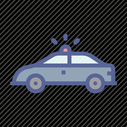 car, flasher, patrol, police icon