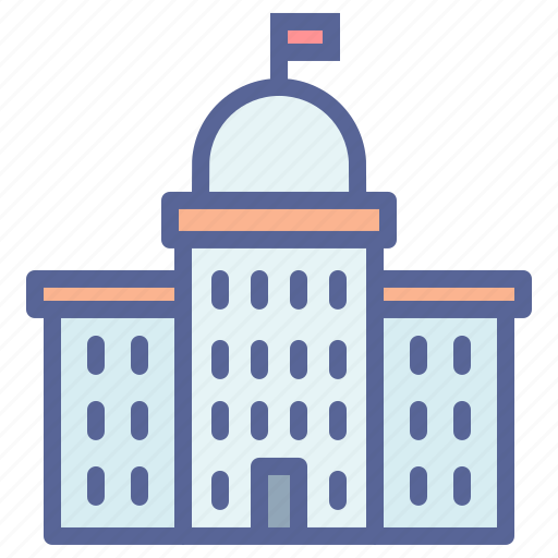 building, court, courthouse, institution icon