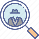 criminal, detective, investigate, suspect
