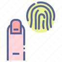 fingerprint, forensic, id, scan icon