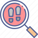 crime, detective, footprints, investigate icon