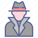 boss, detective, gangster, suspect icon